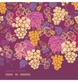 Sweet grape vines horizontal border seamless vector