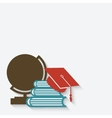 Education graduation background vector