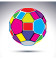 Abstract complicated 3d ball with kaleidoscope vector