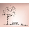 Chire beside the tree vector