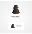 Abstract stone logo with business card template vector