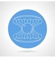 Scallop blue round icon vector