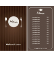 Brown menu vector