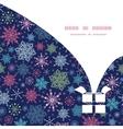 Snowflakes on night sky christmas gift box vector