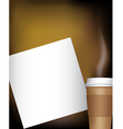 Coffee cup with notepad vector