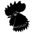 Silhouette of cock vector