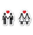 Gay marriage labels vector