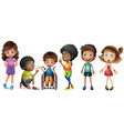 A group of kids vector