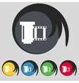 Negative films icon symbol set of colourful vector