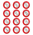 Zodiac signs with date and name vector