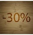 30 percent discount icon symbol flat modern web vector