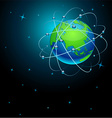 Transportation earth in space vector