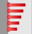 Navigation menu backgrounds vector