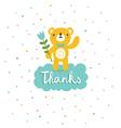 Bear says thanks vector