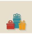 Gift boxes background vector