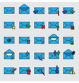 Computer mail simple blue icons eps10 vector