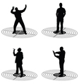 Man standing on target silhouette vector