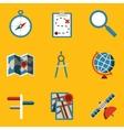 Flat icon set navigation vector