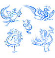 Bird tattoo design vector