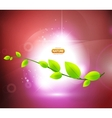 Nature shiny background leaves vector