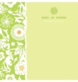 Green and golden garden silhouettes square torn vector