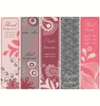 Vertical floral banners vector