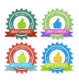 Set of flat best choice labels with ribbon vector
