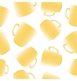 Cups seamless background template for design vector