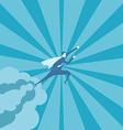 Business man fly on the sky vector