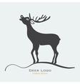 Deer label vector