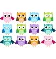 Cartoon owls vector