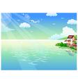 Seaside homes background vector