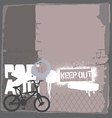 Bmx bike on the wall vector