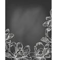 Flowers on chalkboard vector