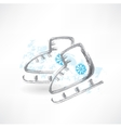 Skates grunge icon vector