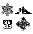 Black design elements - graphic vector
