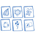 Different notebook icons vector