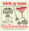 Halloween party sketch vector