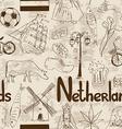 Sketch netherlands seamless pattern vector