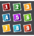 Numbers stamps set vector