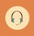 Customer support headphone icon vector