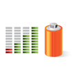 Battery with power indicator vector