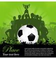 Soccer winning team vector