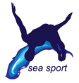 Sea sports logo vector