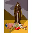 Death in egypt vector
