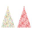Christmas tree shape vector