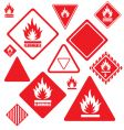 Flammable signs vector