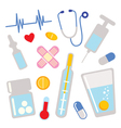 Medical icons design elements vector