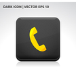 Phone icon gold vector