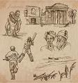 Jamaica travel - an hand drawn pack vector